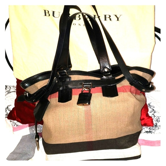 aac91837e57 Burberry Handbags - LARGE AUTHENTIC BURBERRY TOTE BAG..USED!